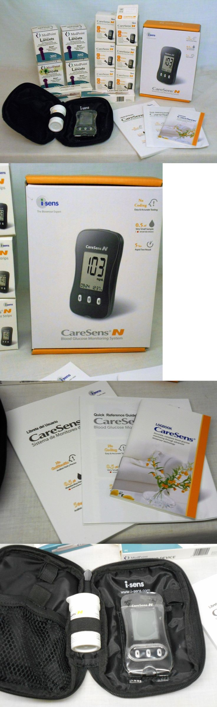 Glucose Monitors: Caresens N Blood Glucose Monitoring System Lancing Device,Test Strips, Lancets BUY IT NOW ONLY: $160.0