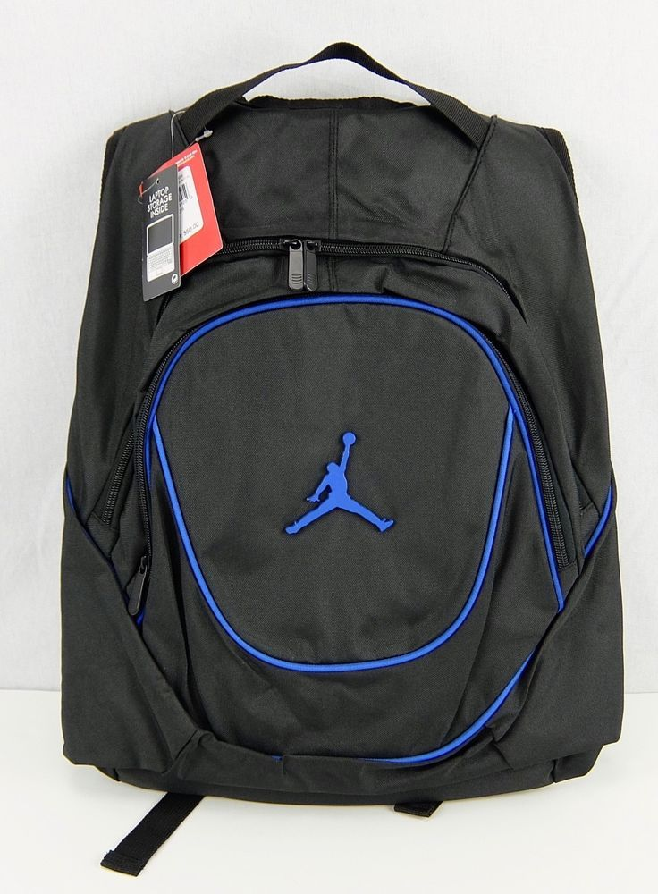 931a9becda3eea Nike Jordan Jumpman 23 Backpack Laptop Storage Pocket Game Black Blue  Accents  Nike  Backpack