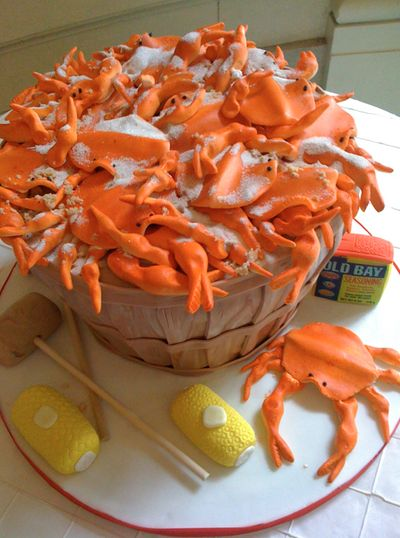 Love, love this!  Crab Cake!!!!!!!!!: Crab Cakes, Food, Crabcakes, Amazing Cake, Awesome Cakes, Groom Cake, Crabs, Fun Cake