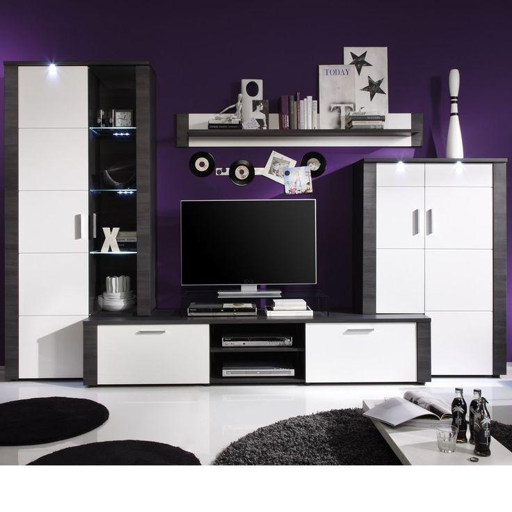 Amazing Wohnwand Kombination Xpress Esche grau Wei Trend Team M bel g nstig kaufen