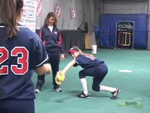Softball Drills: Backhand Fielding Drill