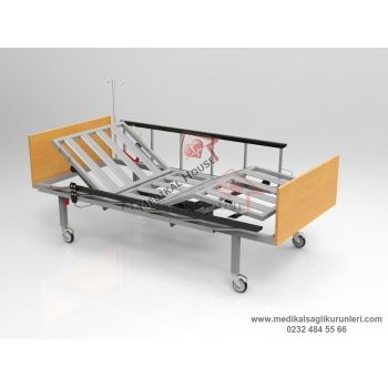 Elektrikli Hasta Karyolası (2 Motorlu - Ergonomik Korkuluklu)