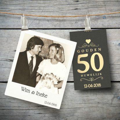 50 jaar getrouwd uitnodiging of kaarten | Kaartje2go