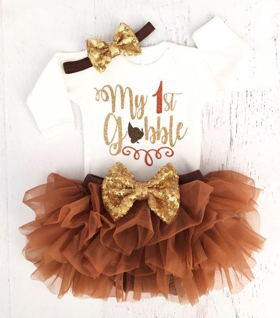 First Thanksgiving Outfit Baby Girl Thanksgiving by TheSassyTot