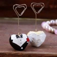 Wedding Bomboniere Favours Name Table Place Card Stand Holder Bride Dress  Groom
