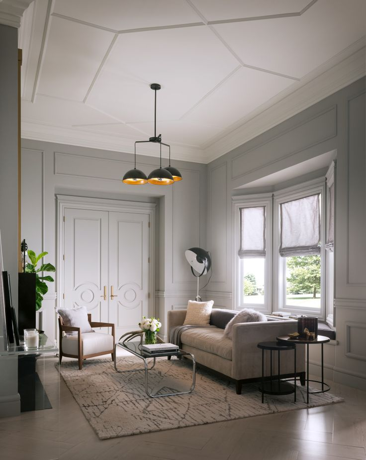 The Metrie Fashion Forward Finishing Collection features chic elements with classic styling that speak to confident, yet subtle sophistication. #livingroom #interiorfinishings #moulding #trim #trimwork