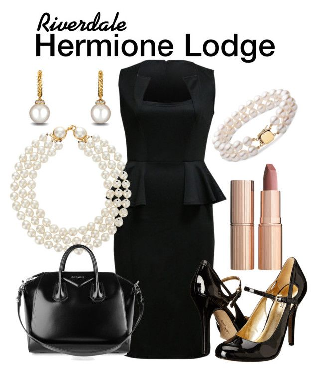 Hermione Lodge Riverdale by sparkle1277 on Polyvore featuring polyvore, fashion, style, WithChic, Nine West, Givenchy, Chanel, David Yurman, Charlotte Tilbury and clothing