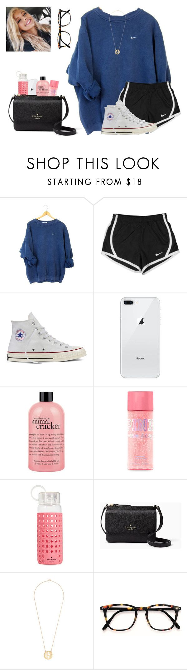 """We've come so far"" by preppy-lexi-1013 ❤ liked on Polyvore featuring NIKE, Converse, philosophy and Kate Spade"