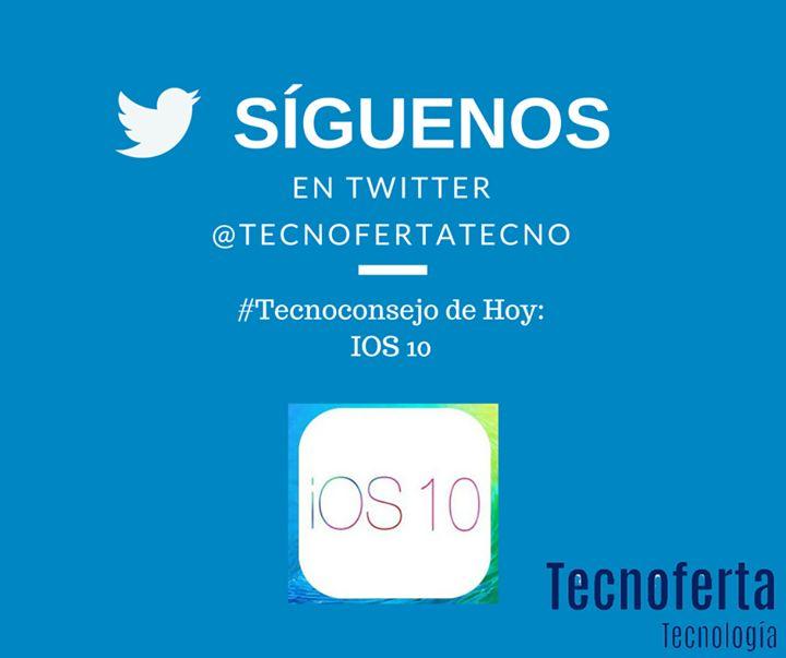 """#tecnoconsejos en Tecnoferta Tecnología  Hoy: """"#IOS10 novedades y actualizaciones""""  Para los que no saben IOS es el sistema operativo de #Apple lo que te permite darle uso al dispositivo que hayas adquirido como el #Android o #Windows.   En San Francisco USA del 13 al 17 de Junio de 2016 se celebra la #WWDC2016 una exposicion donde desarrolladores y empresas presentan sus proyectos y hacen lanzamiento. En este caso Apple con sus desarrolladores presento el nuevo IOS 10 la última versión del…"""