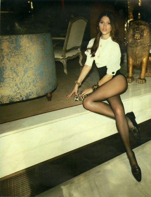 sheer tights and long legs