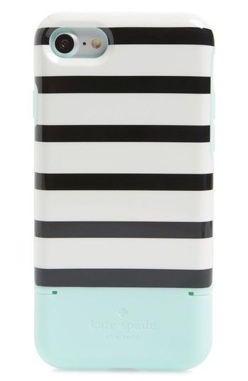 Free shipping and returns on kate spade new york stripe credit card iPhone 7/8 & 7/8 Plus case at Nordstrom.com. Protect your favorite tech from scuffs and scratches with this charming striped phone case featuring storage for up to three bank cards. #CreditCardGuides