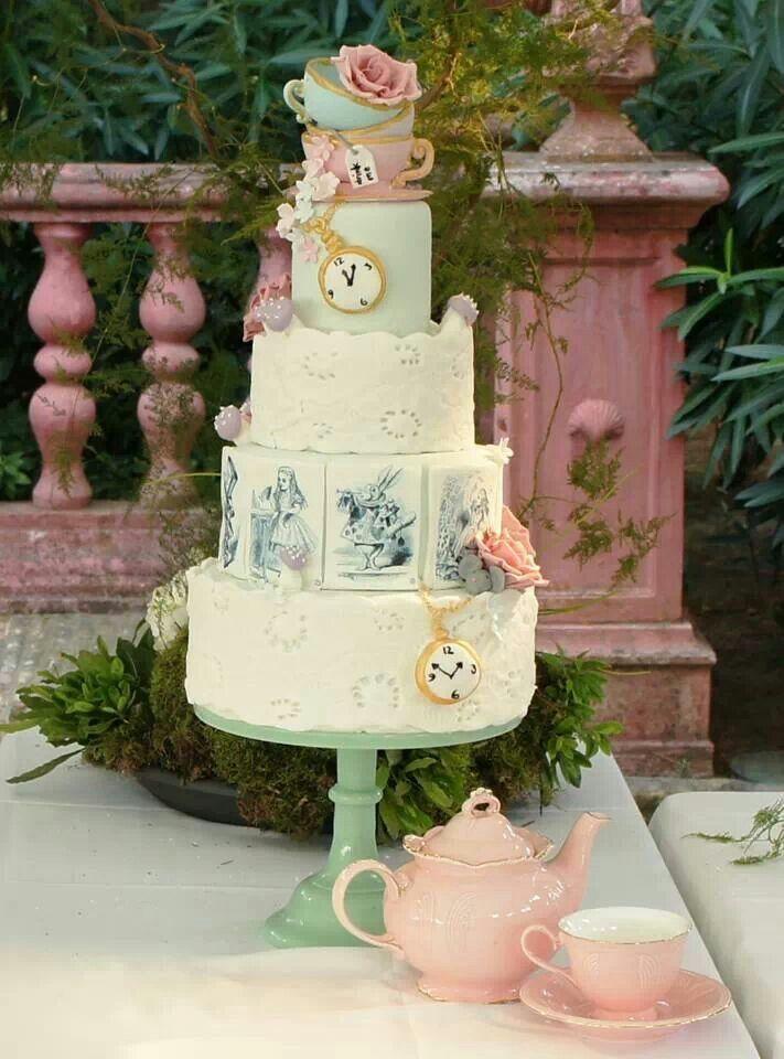 Wonderland wedding cake