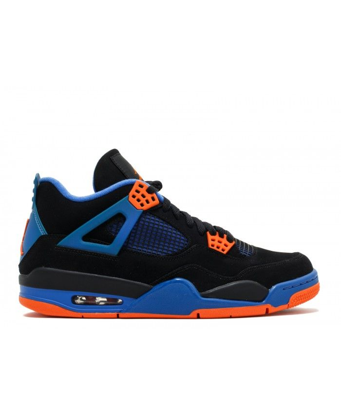 Air Jordan 4 Retro Cavs Black Safety Orange Game Royal 308497 027