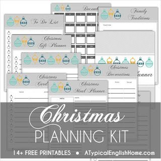 Free Christmas Planning Printables. Organizing Tools to Keep You on Track During the Holidays