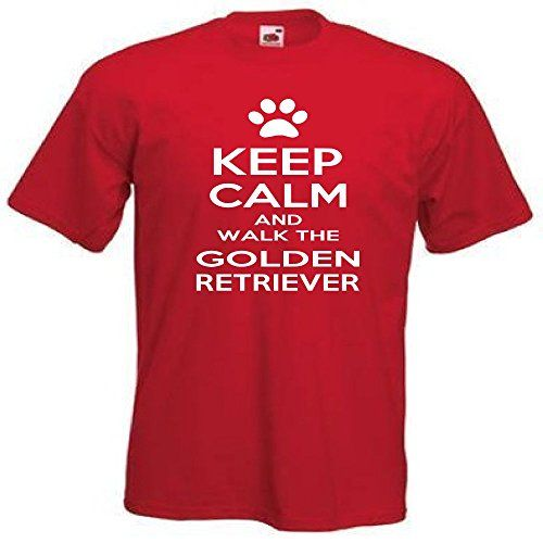 Keep Calm And Walk The Golden Retriever camiseta 513 Rojo rosso small #camiseta #realidadaumentada #ideas #regalo