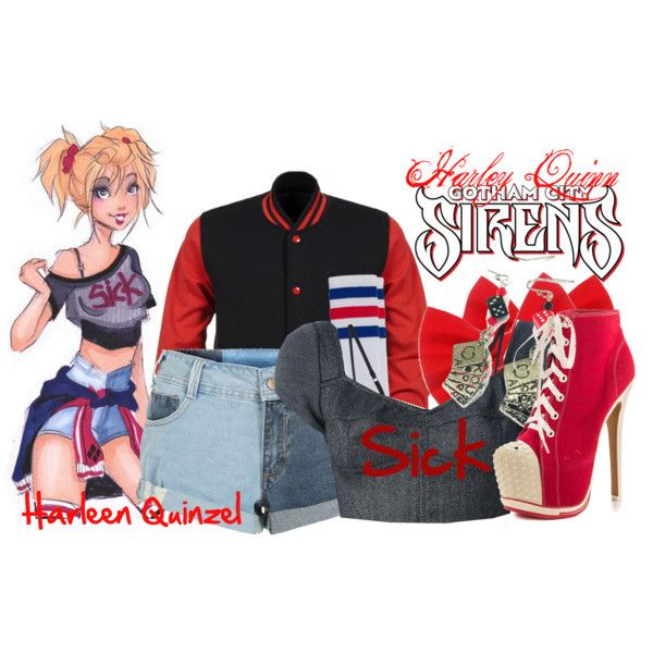 U0026quot;Harley Quinn - Gotham City Sirensu0026quot; by katcat17 on Polyvore | Fandom Fashion | Pinterest ...