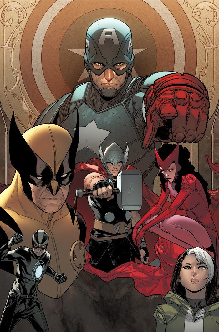 bear1na:  Uncanny Avengers by Sara Pichelli, colours by Marte Garcia *