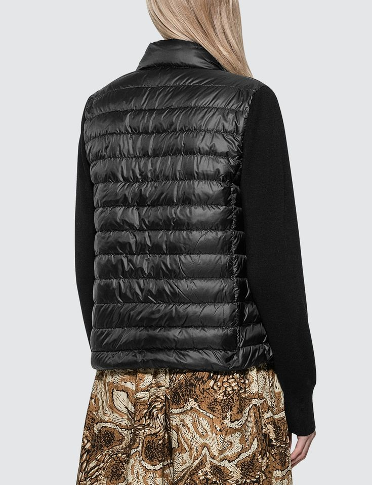 Moncler Down Jacket With Knitted Sleeves Ad ,