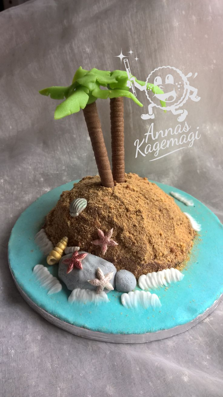 A little deserted island cake for one