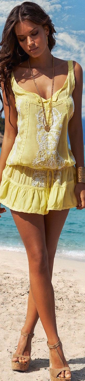 yellow summer dressMellissa Odabash 2015 Swimwear  @roressclothes closet ideas women fashion outfit clothing style