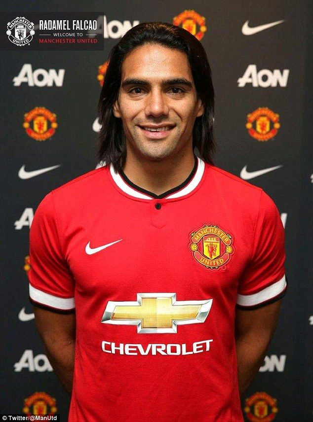 Arrival: Falcao joins on loan for an initial £6m fee with an option to buy next summer for a further £46m