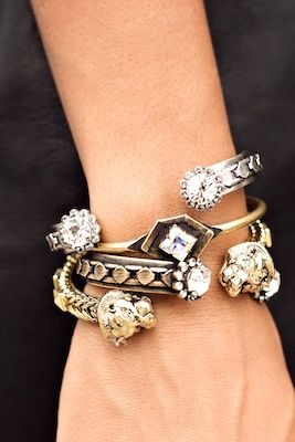 Stack Featuring Loren Hope Marley Cuffs Hex Cuff Style Me Grasie Styled Pinterest Jewelry Jewels And Bling