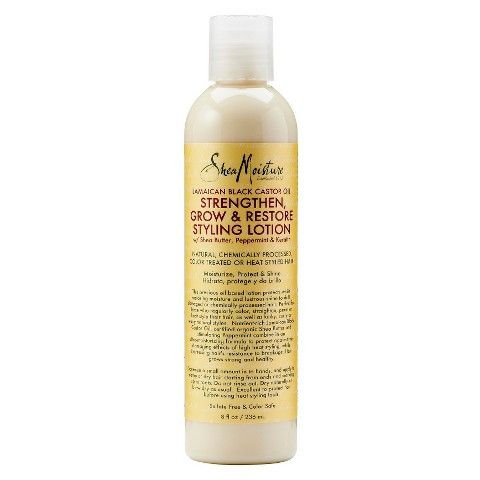 Shea Moisture Jamaican Black Castor Oil Grow & Restore Styling Lotion<--This stuff is fairly moisturizing going on the hair. But when it dries,it make my hair feel like a dry sponge. So it may work as a a good roller setter or flexi rod setter,but not a good moisturizer for my l.o.c method.