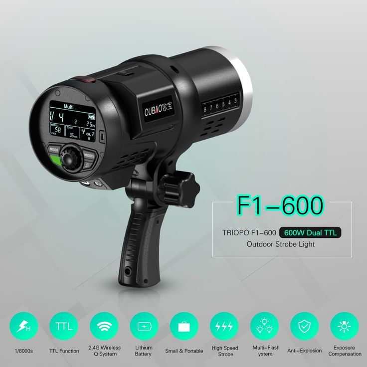 TRIOPO Oubao F1-600 600W Dual TTL Outdoor Flash Strobe Light Sales Online Array - Tomtopvideo camera  photo electronics