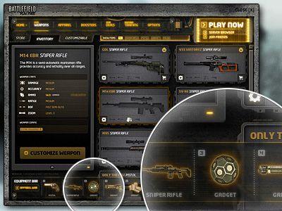 Battlefield P4F UI Redesign by Chris Scholten