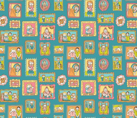 Family Portraits wallpaper, fabric an giftwrap by pommynewyork on Spoonflower