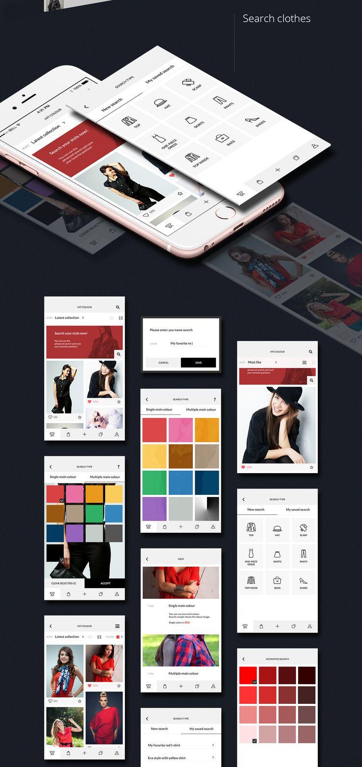 Hit Colour - Fashion Clean App & Icons design on Behance