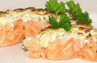 Рыба в сметане и сыром запеченная