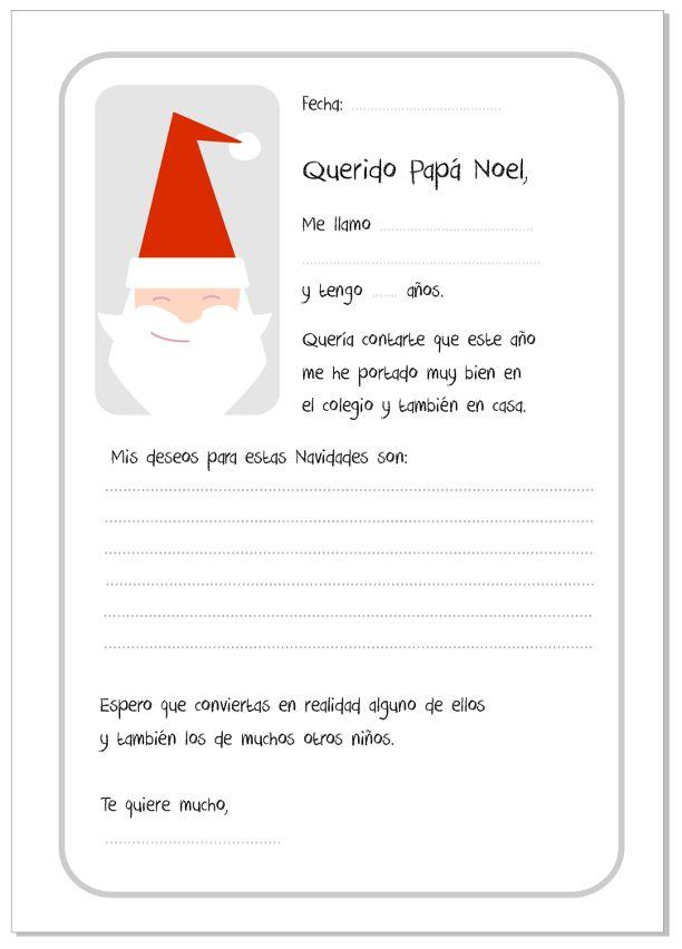Carta para Papá Noel. Santa Claus Card #card #Navidad #evacreando