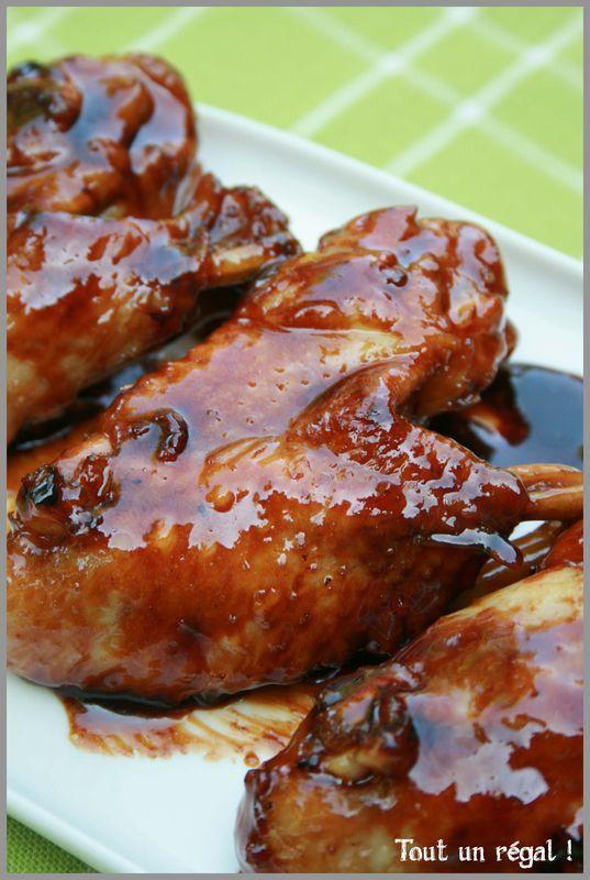 Ailes de poulet caramélisées