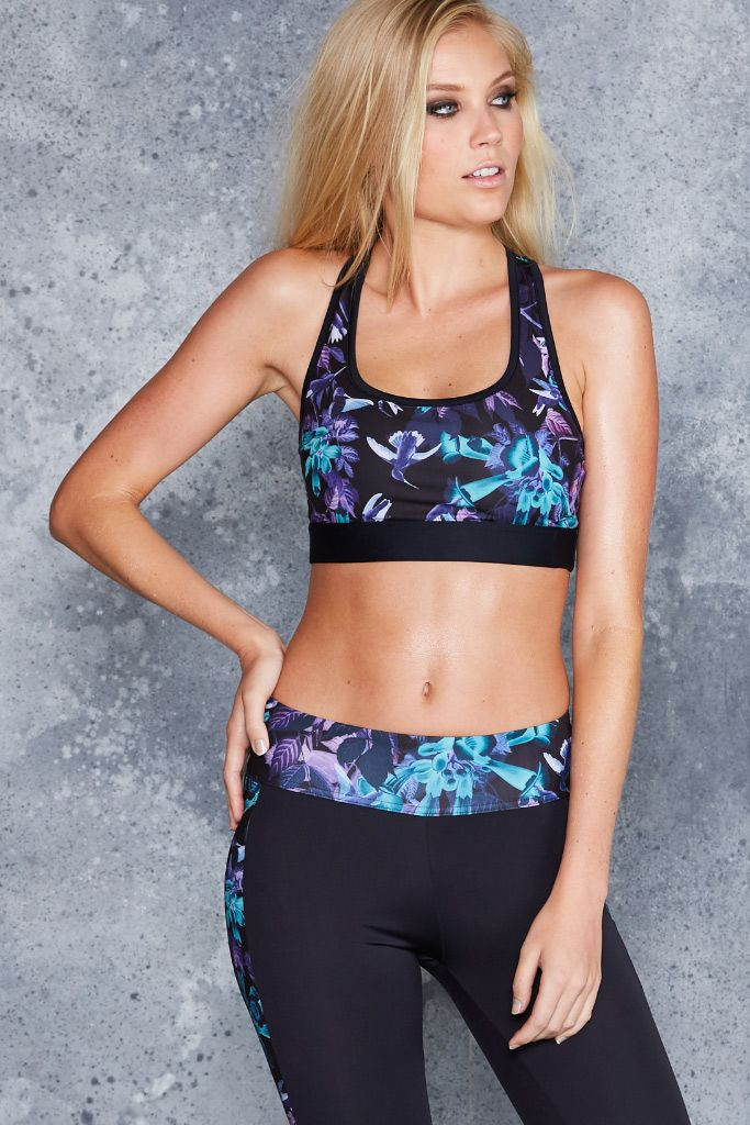 Midnight Hummingbird Racer Crop - CAPPED PRESALE ($60AUD) by BlackMilk Clothing