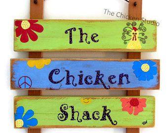 Chicken Art, Chillin with my Peeps, Chicken Coop Sign, Chicken Decor, Red, Chicken Signs, Gift