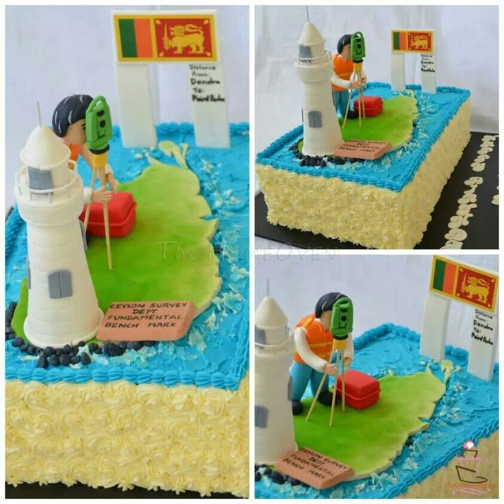 Birthday cake for land Surveyor