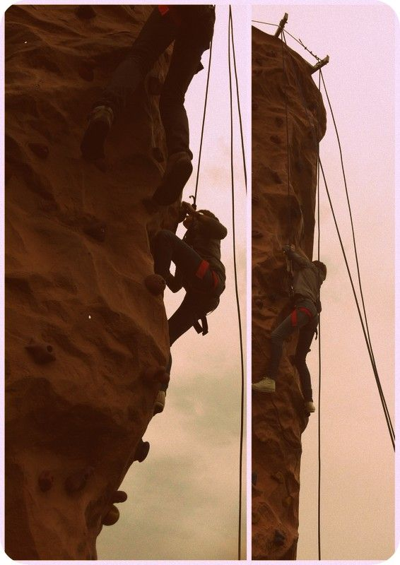 My first time #Climbing