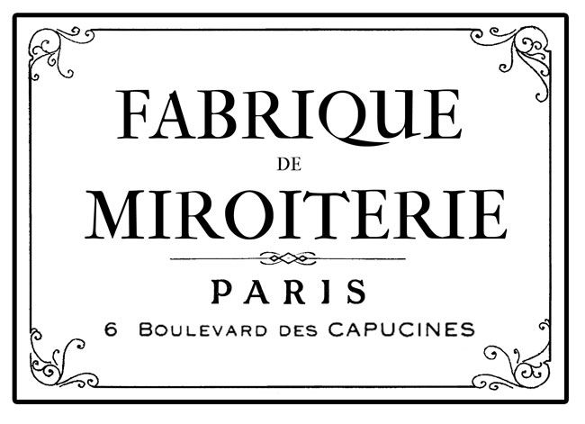 Parisian Factory Furniture Transfer! - The Graphics Fairy