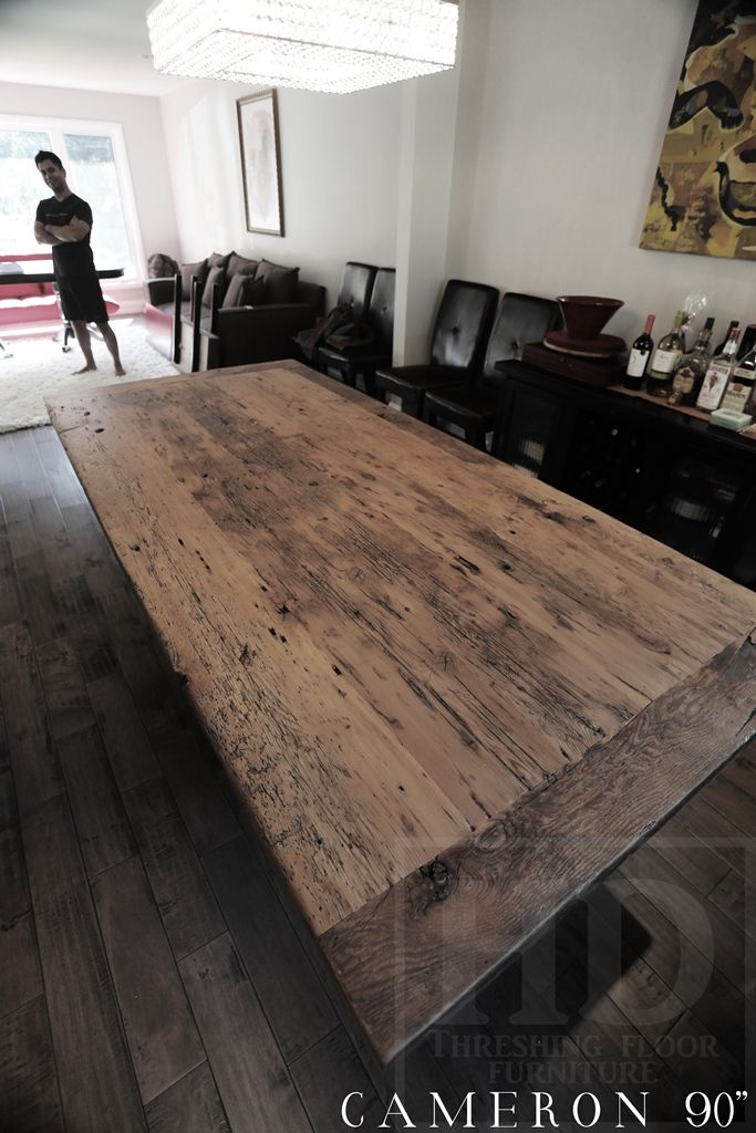 90 Quot Modern 3 Quot Post Plank Base Table Premium Epoxy And