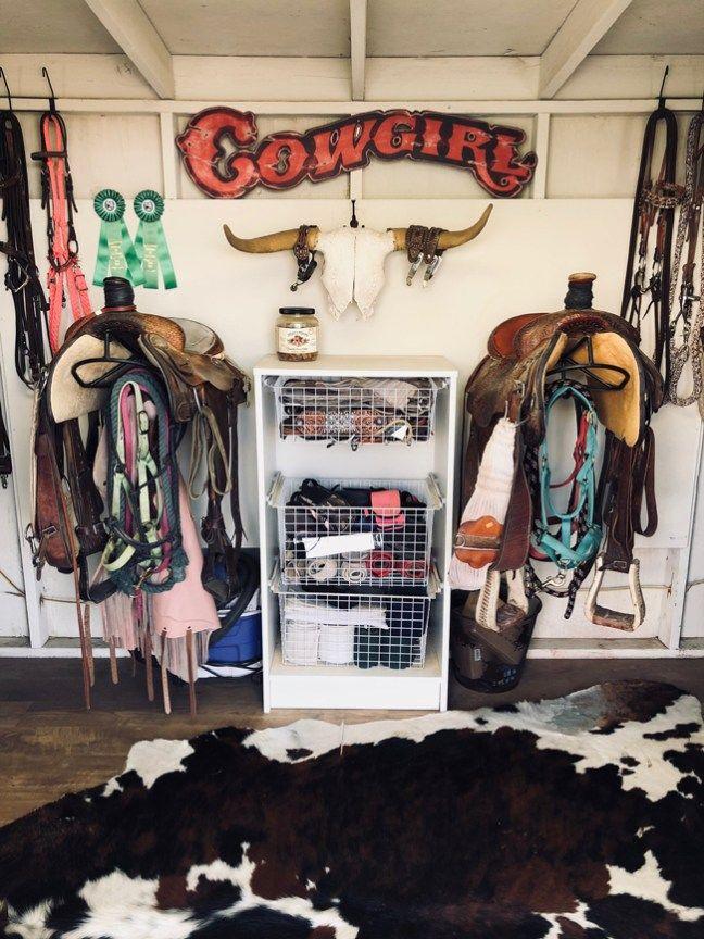 Organized Western Tack Room Tack Room Tack Room Organization Diy Horse Barn