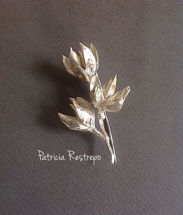 Broche, fundición material vegetal