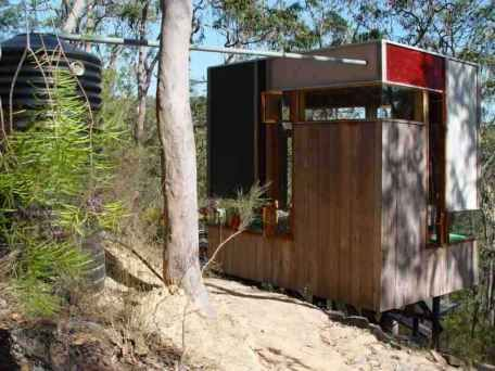 The Zig Zag Cabin in Australia by architect Drew Heath; 269 sq ft