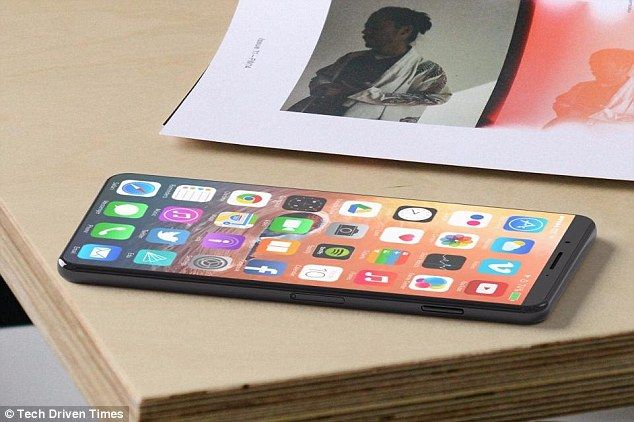 It is believed that the iPhone 8 (artists impression) will boast a 5.8in OLED display, but...