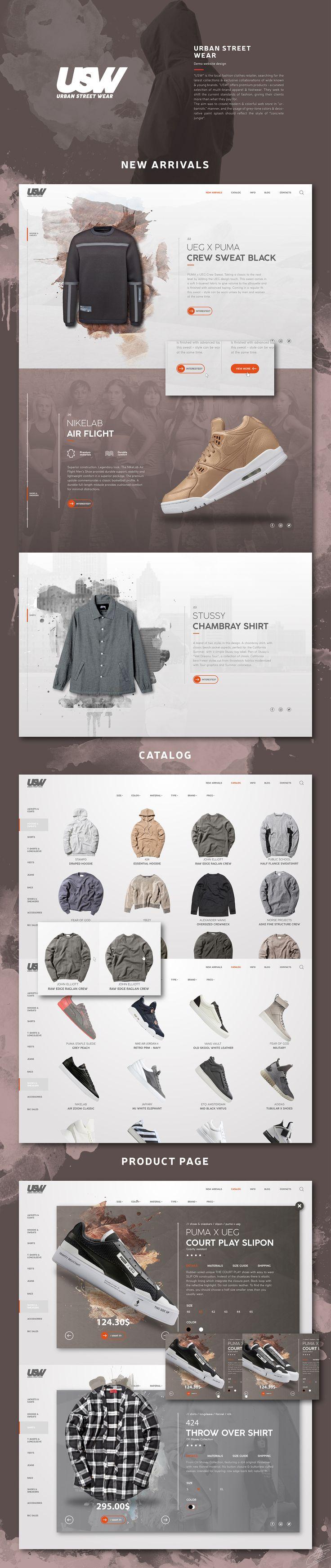 Urban Street Wear Website | #webdesign #userinterface #design