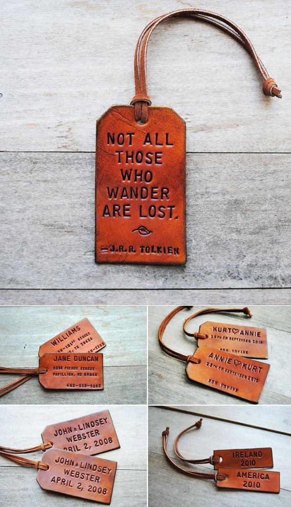 Handmade Leather Tags