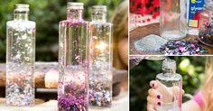 Reutiliza botellas  y transfórmalas en hermosos elementos decorativos en sólo tres pasos.