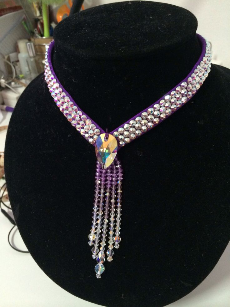 Swarovski necklect  for ballroom dance By Pakaorn Kuituan ( Best Design Dancewear )