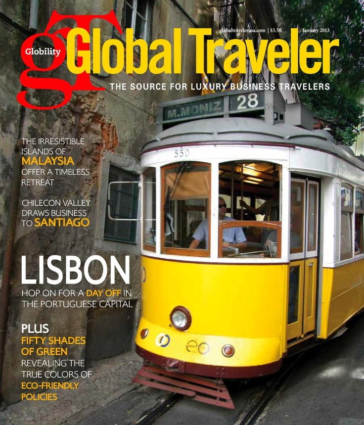 Lisbon on the cover of the Global Traveler Magazine   January 2013 issue  #Portugal