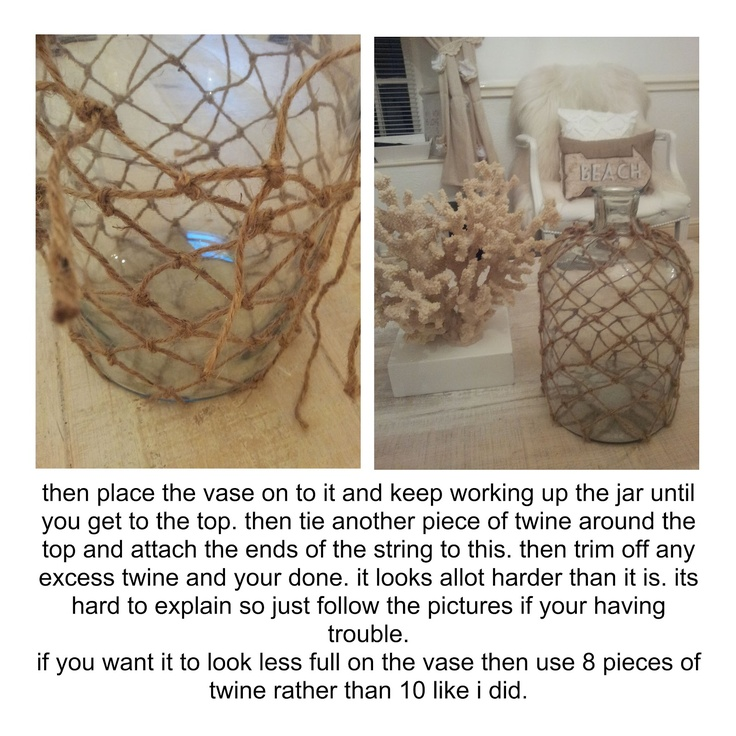 16 best fishnet images on pinterest beach houses beach for Bathroom decor vases
